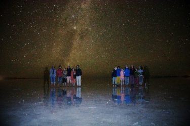 ウユニ塩湖の鏡張り景色を見ることができる時期(雨季)